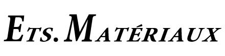 Ets.MATERIAUX,マテリオ