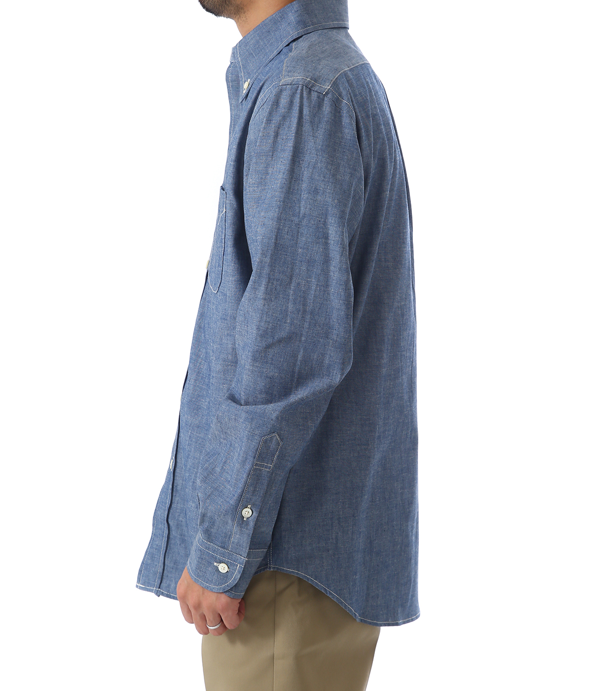 MEN'S BUTTON DOWN SHIRT CHAMBRAY