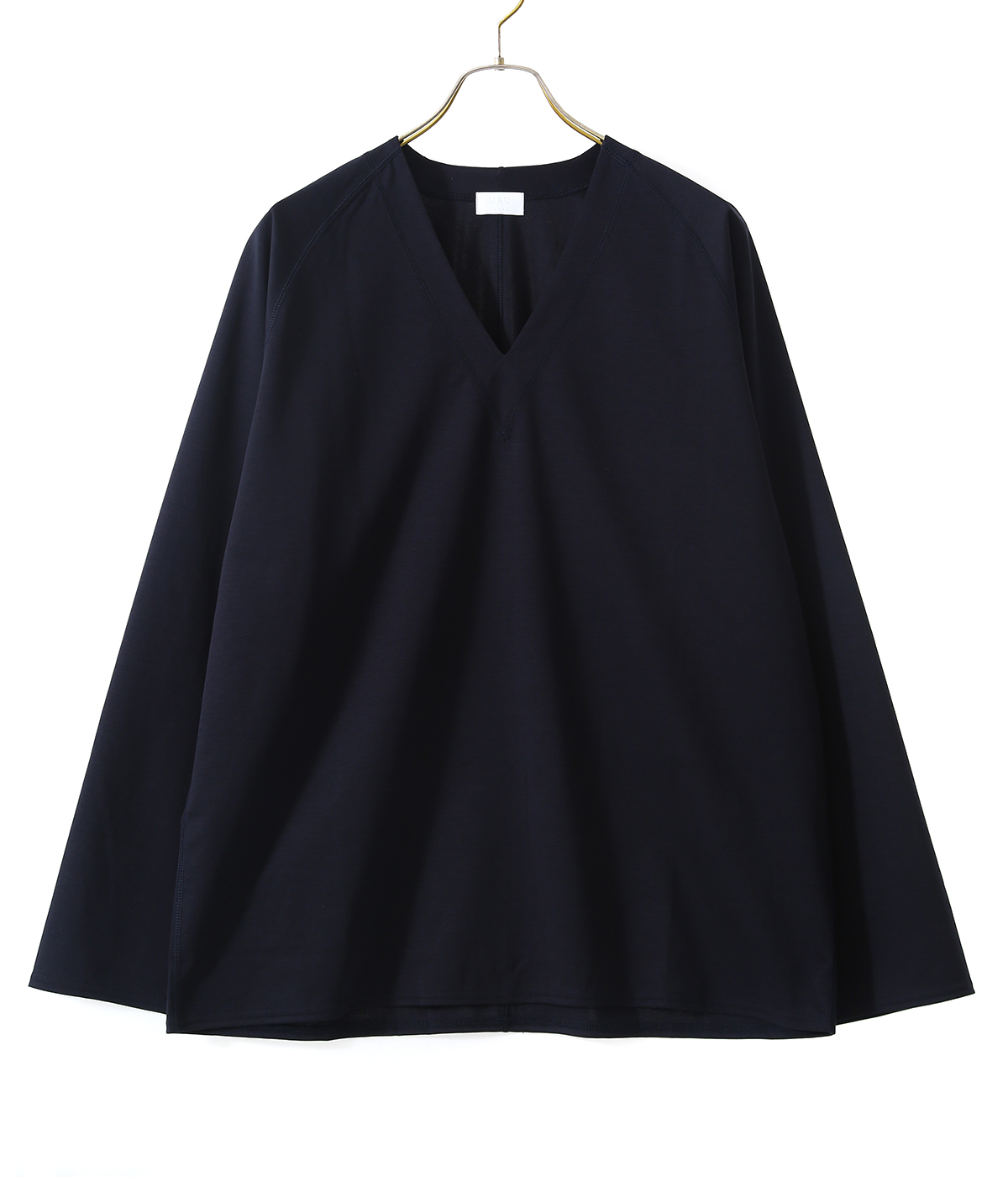 COTTON PONTE / V NECK L/S TEE