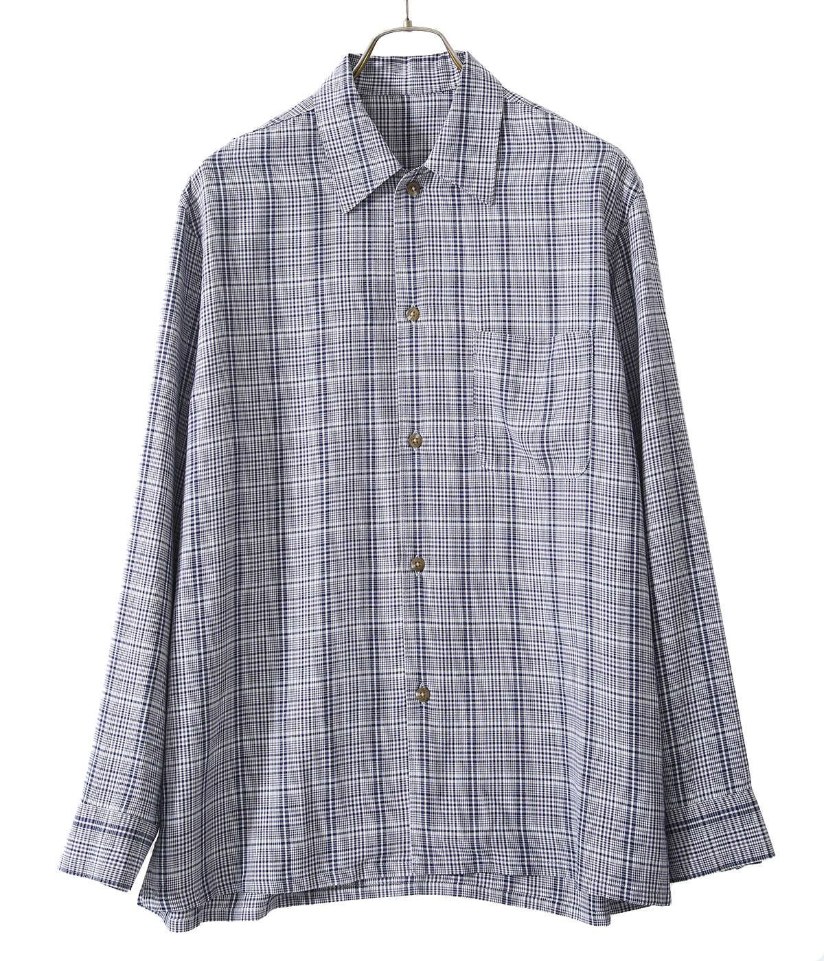 RAYON POPLIN / OPEN COLLAR L/S SHIRTS