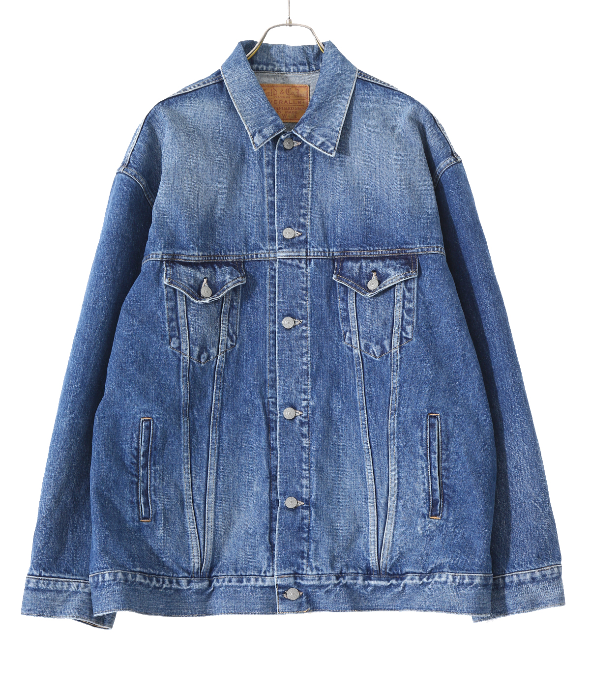 【予約】14oz. DENIM TRUCKER JACKET AGED MODEL