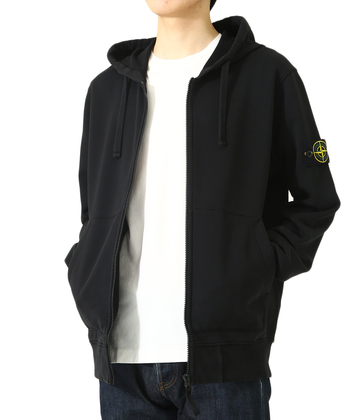 COTTON FLEECE ZIP PARKA
