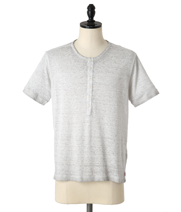 LINEN T-SHIRTS-PEARL GREY-