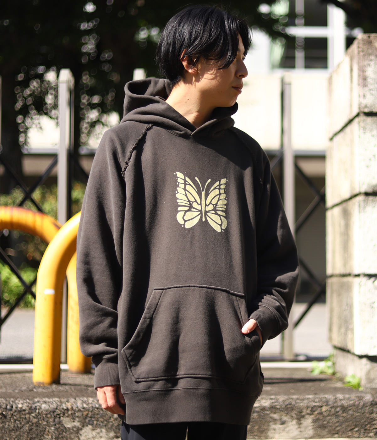 Sweat Hoody - Cotton Jersey / Discharge Print