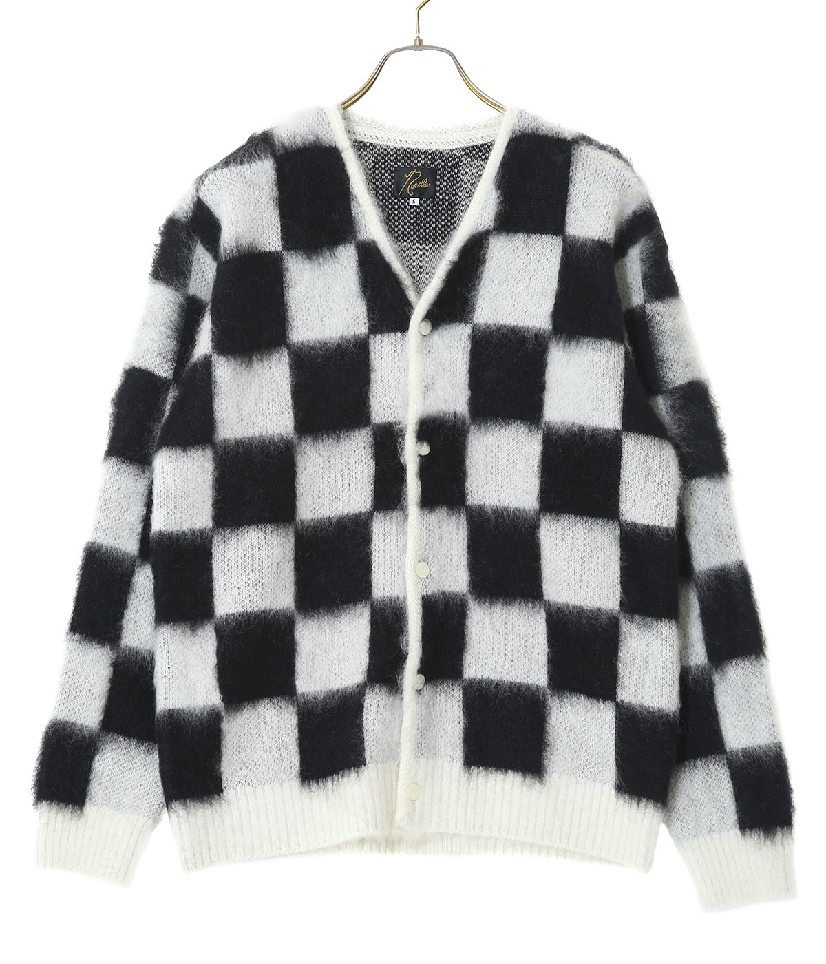Mohair Cardigan - Checkered
