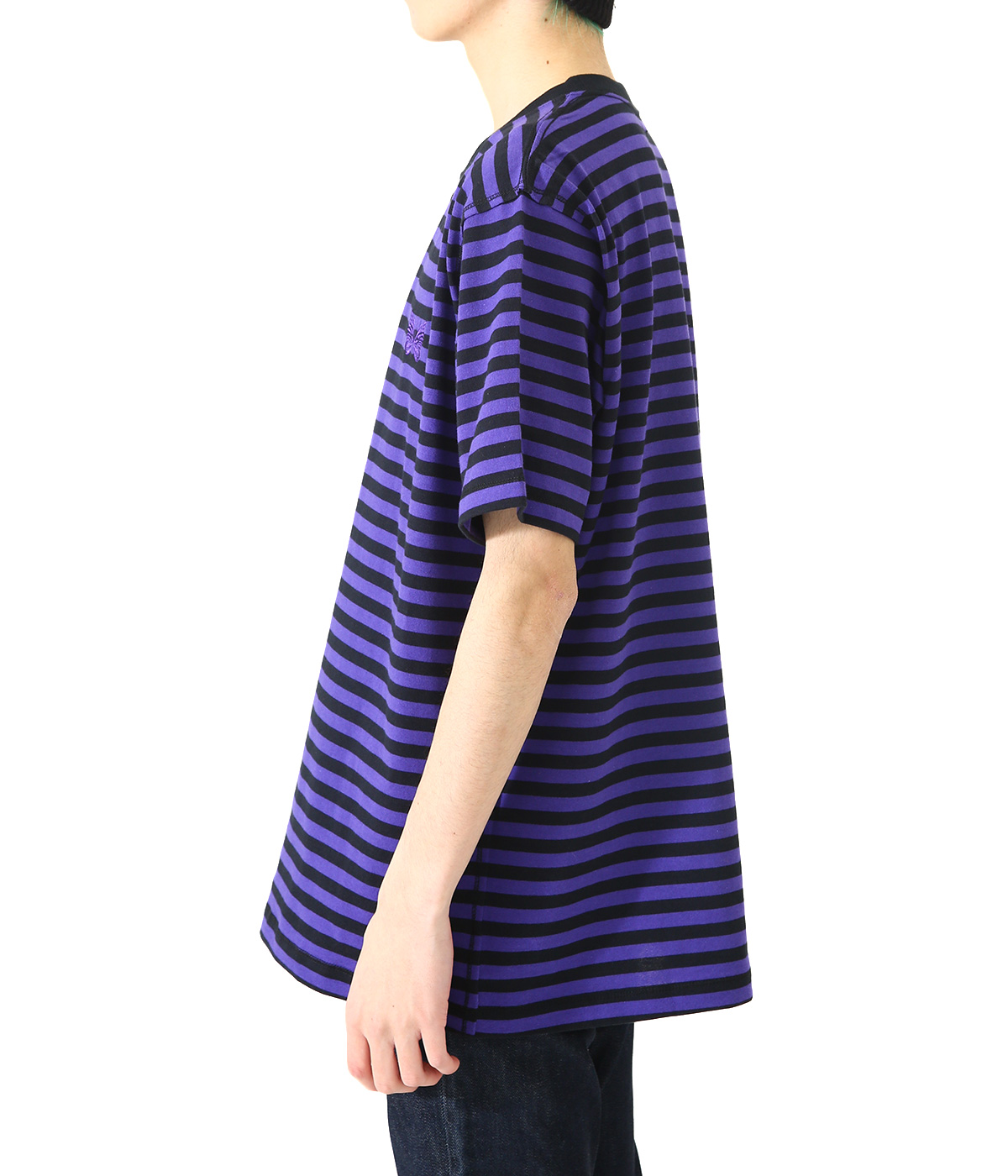 S/S Papillon Emb. Tee - Cotton Jersey / Stripe