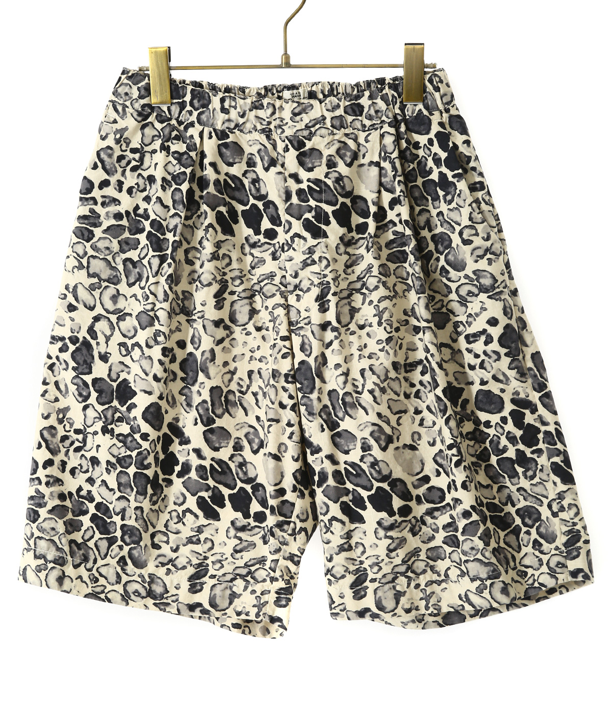 【予約】TILE LEOPARD COTTON SLAB WIDE SHORTS