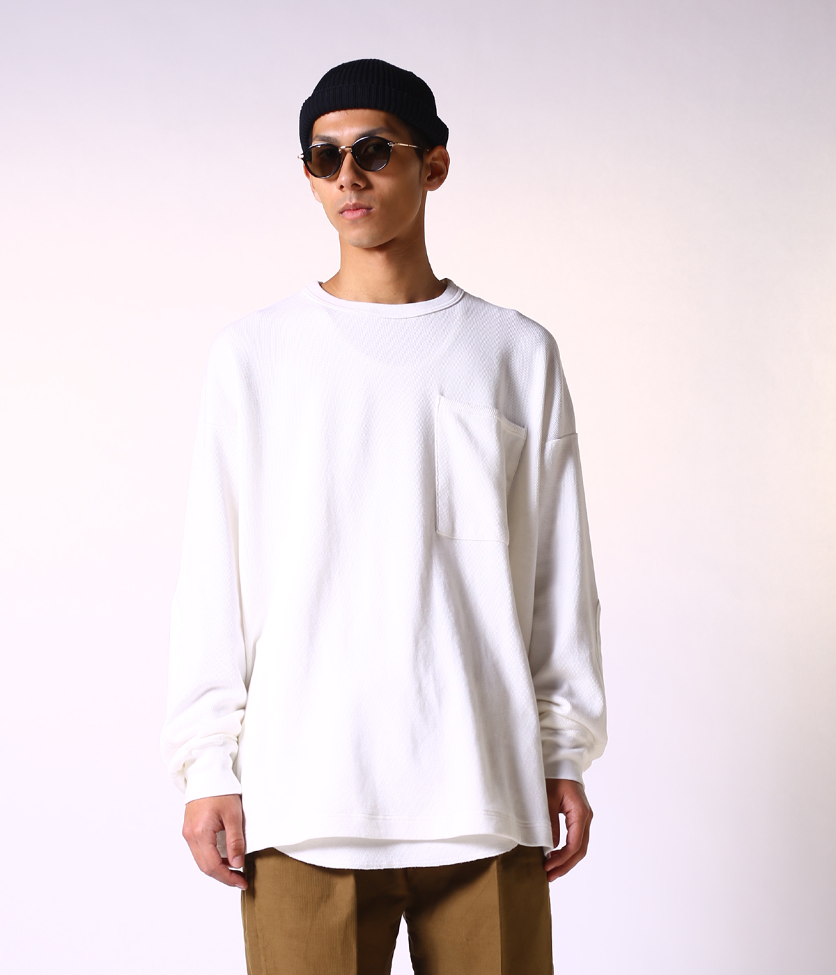 LIGHT THERMAL L/S BIG POCKET T-SHIRT