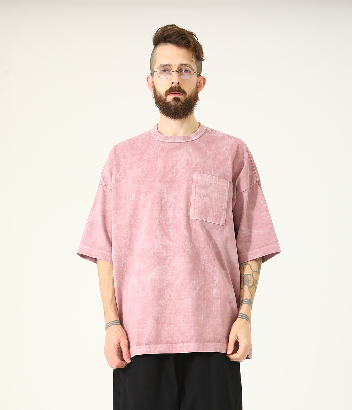 14/- HEAVY COTTON S/S BIG T-SHIRT PIGMENT DYED