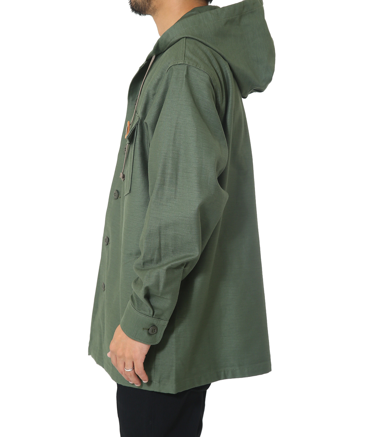 US ARMY HOODED SHIRT JACKET