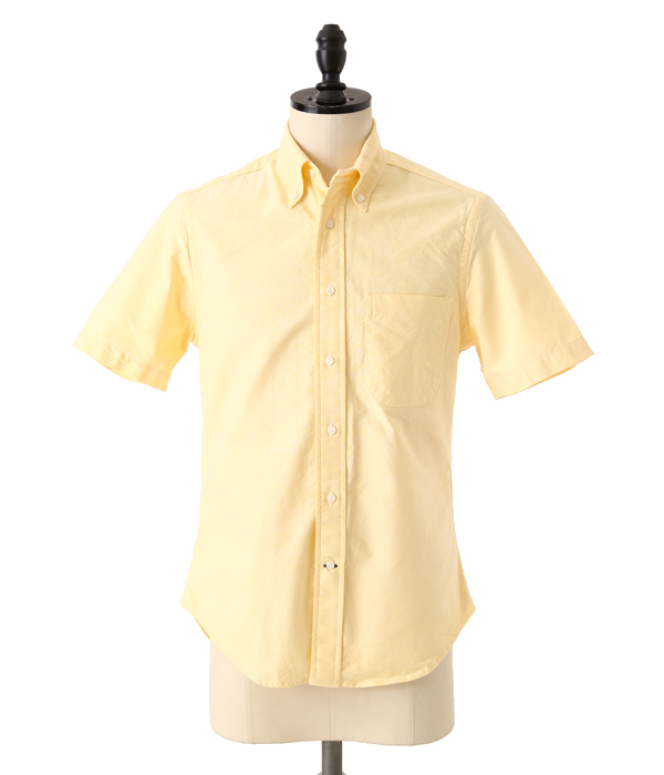 VINTAGE BUTTON DOWN SHORT SLEEVE SHIRTS (Yellow Oxford)