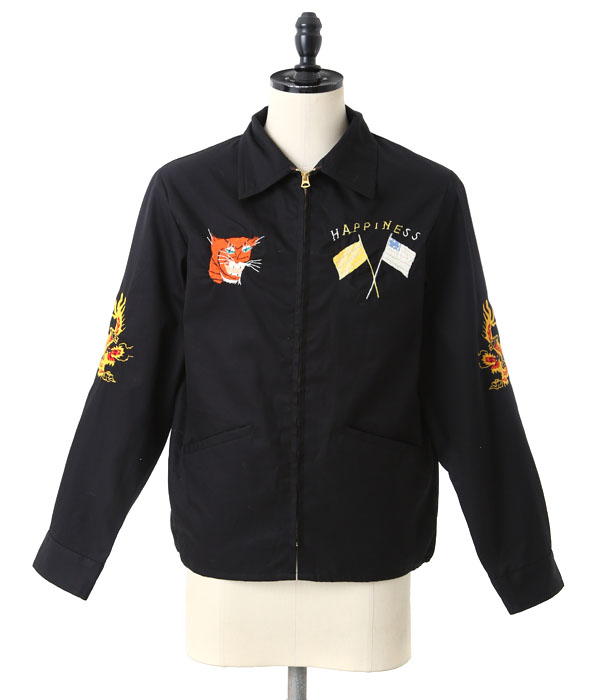 "COTTON VIETNAM JACKET ""FIRE BRATHING DRAGON"""