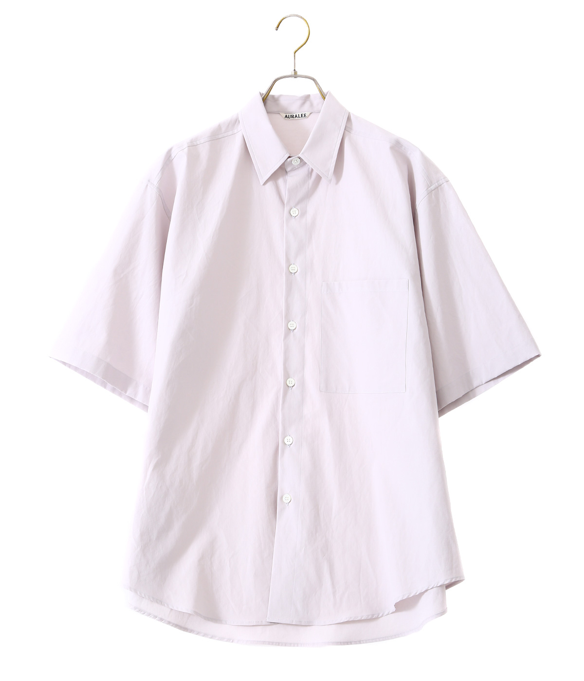 WASHED FINX TWILL HALF SLEEVED BIG SHIRTS