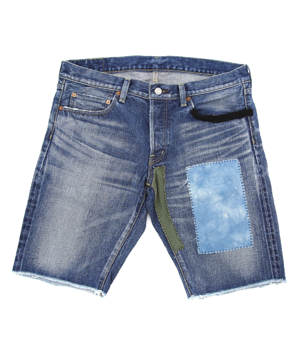 LNL TIE DYED PATCH REPAIRED CUT OFF SHORTS