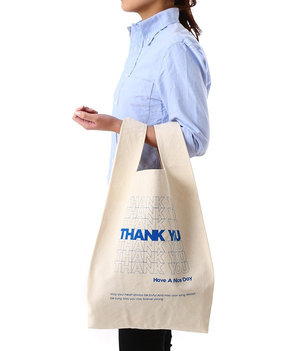 CANVAS MARCHE TOTE -THANK YOU-