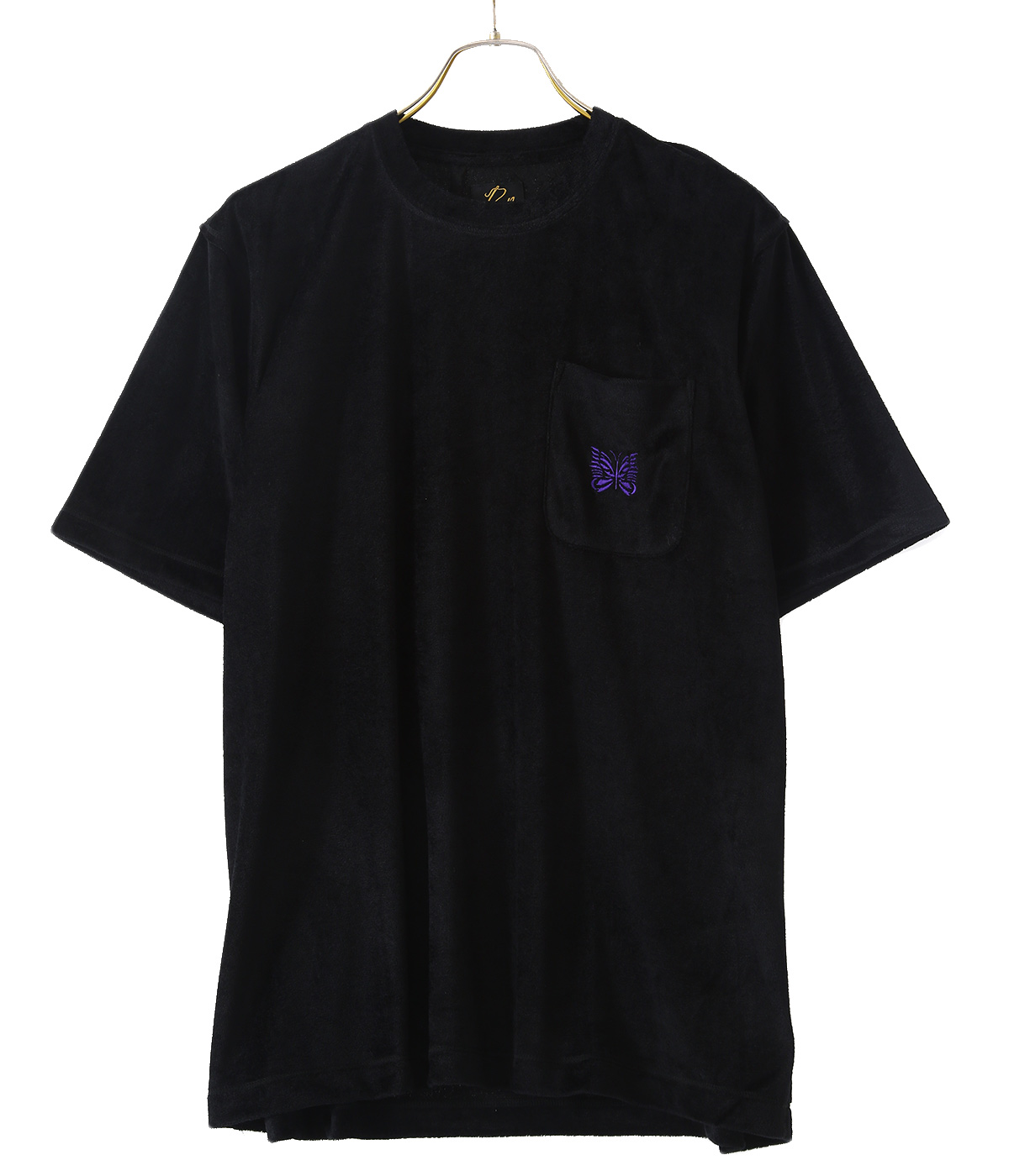 【レディース】S/S Papillon Emb. Pocket Tee - R/Pe Velour