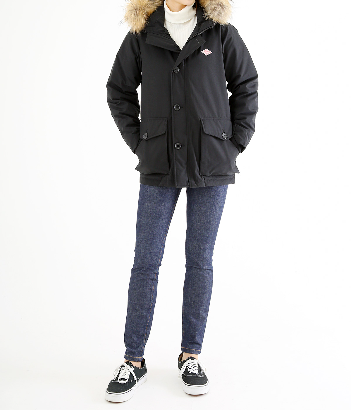 【レディース】<P/C TUSSAH (タッサー)>-DOWN JACKET-BLACK-