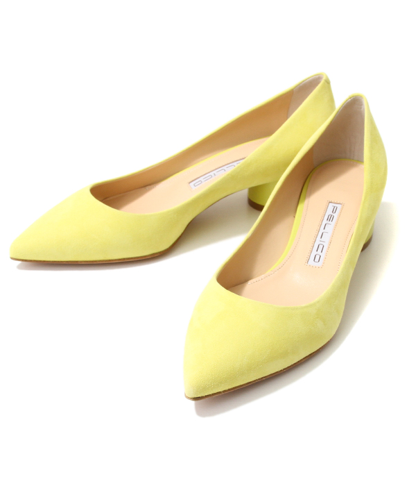 <CHUNKY DECOLTE 3.5cm ANDREA>-MIMOSA(YELLOW)-