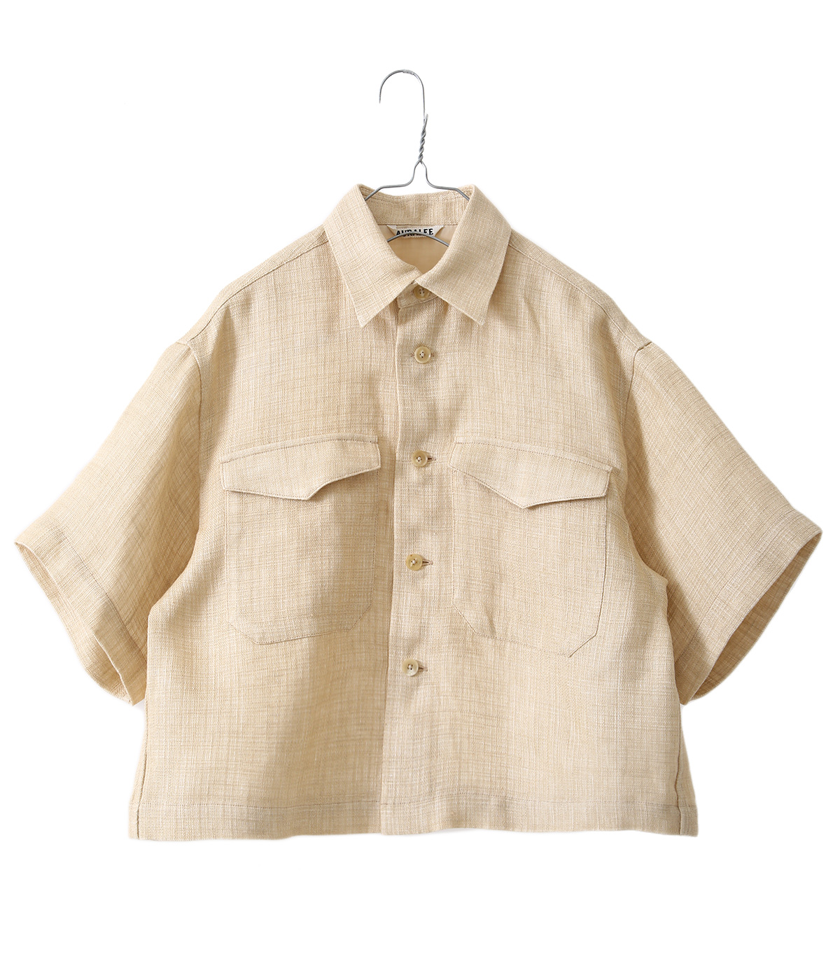 LINEN DOUBLE FACE HARF SLEEVED SHIRTS