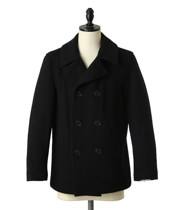 22oz SHORT PEA COAT satin lining anchor button