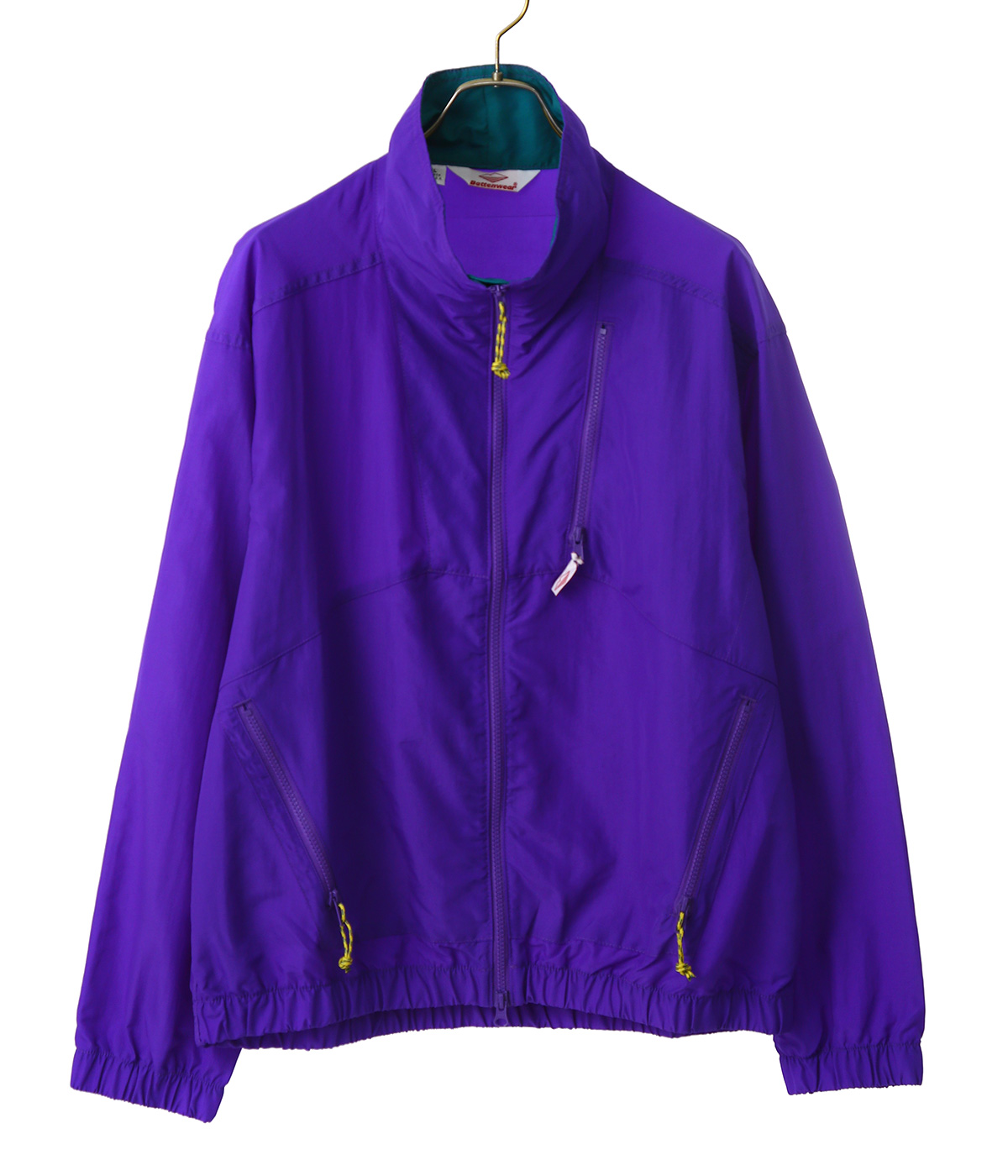 NYLON JUMP JACKET -PURPLE/TEAL-