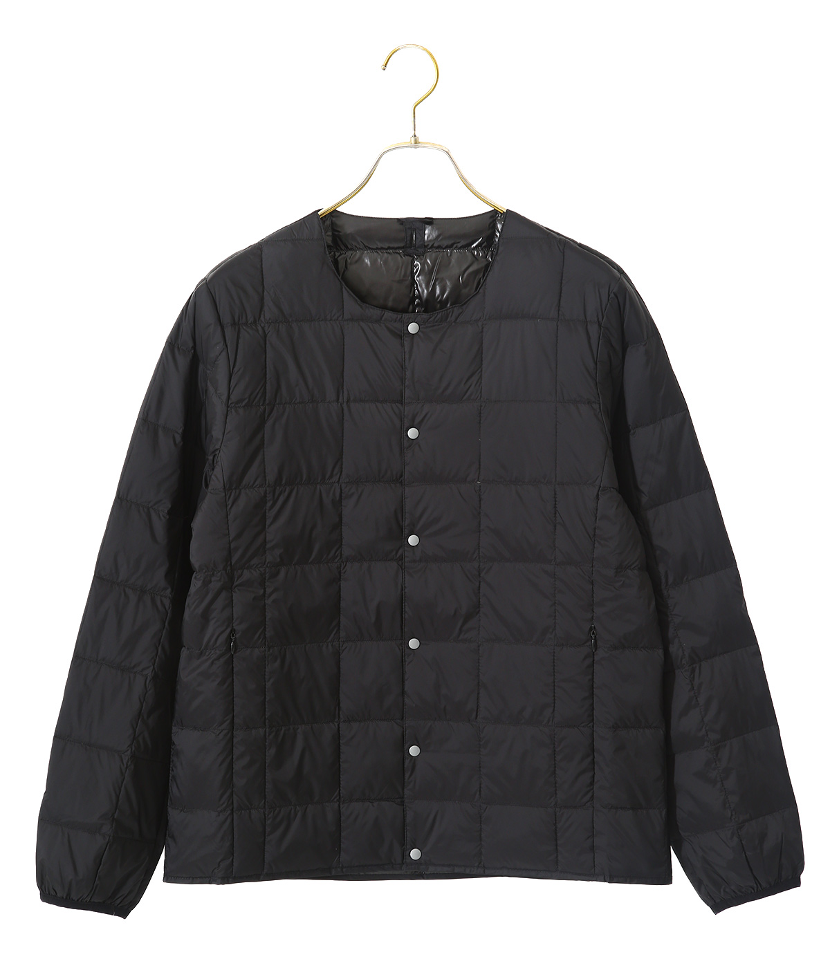 CREW NECK BUTTON DOWN JACKET MENS