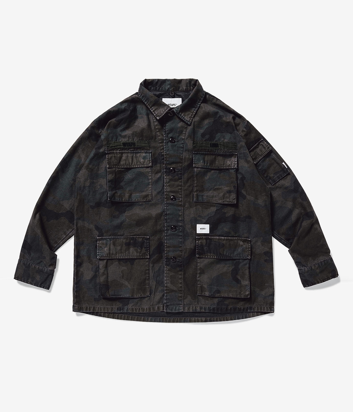 JUNGLE LS 02 / SHIRT. COTTON. SATIN. CAMO