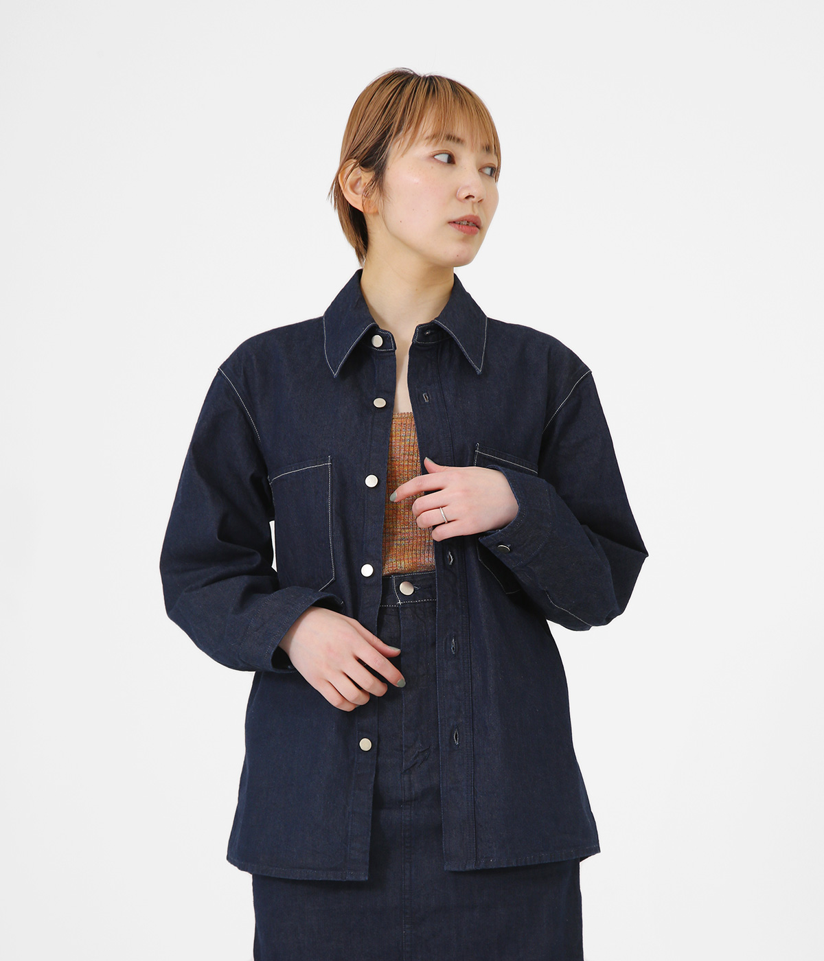 【レディース】HARD TWIST LIGHT DENIM SHIRTS BLOUSON