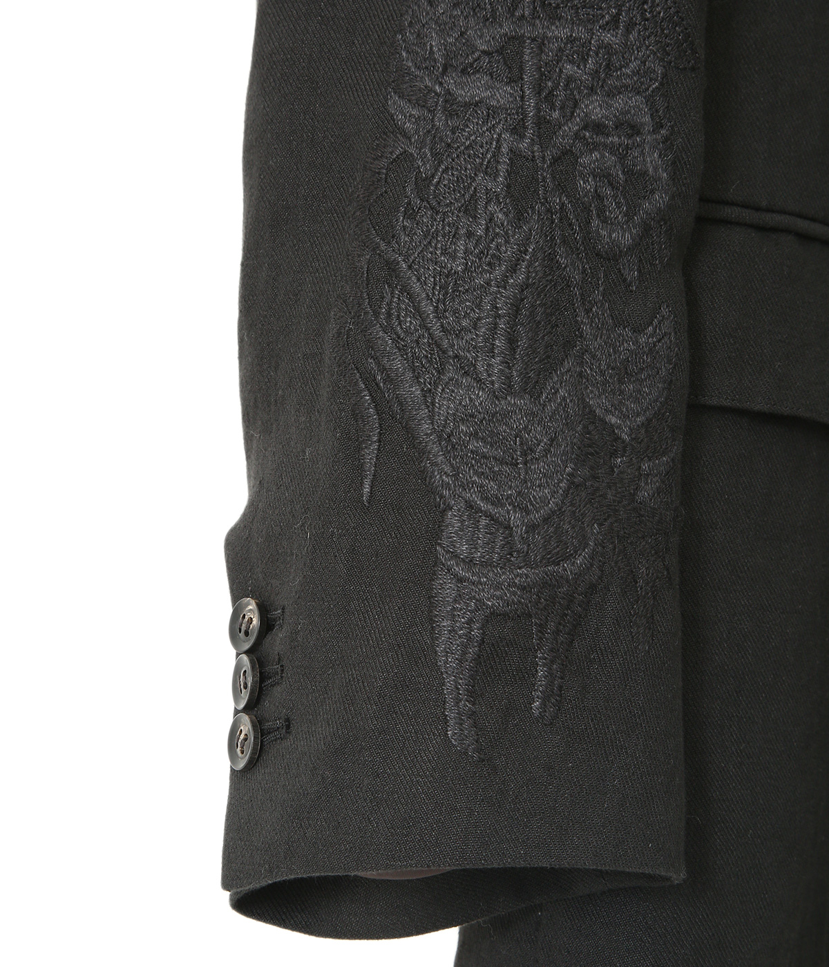 CHAOS EMBROIDERY LINEN TAILORED JACKET