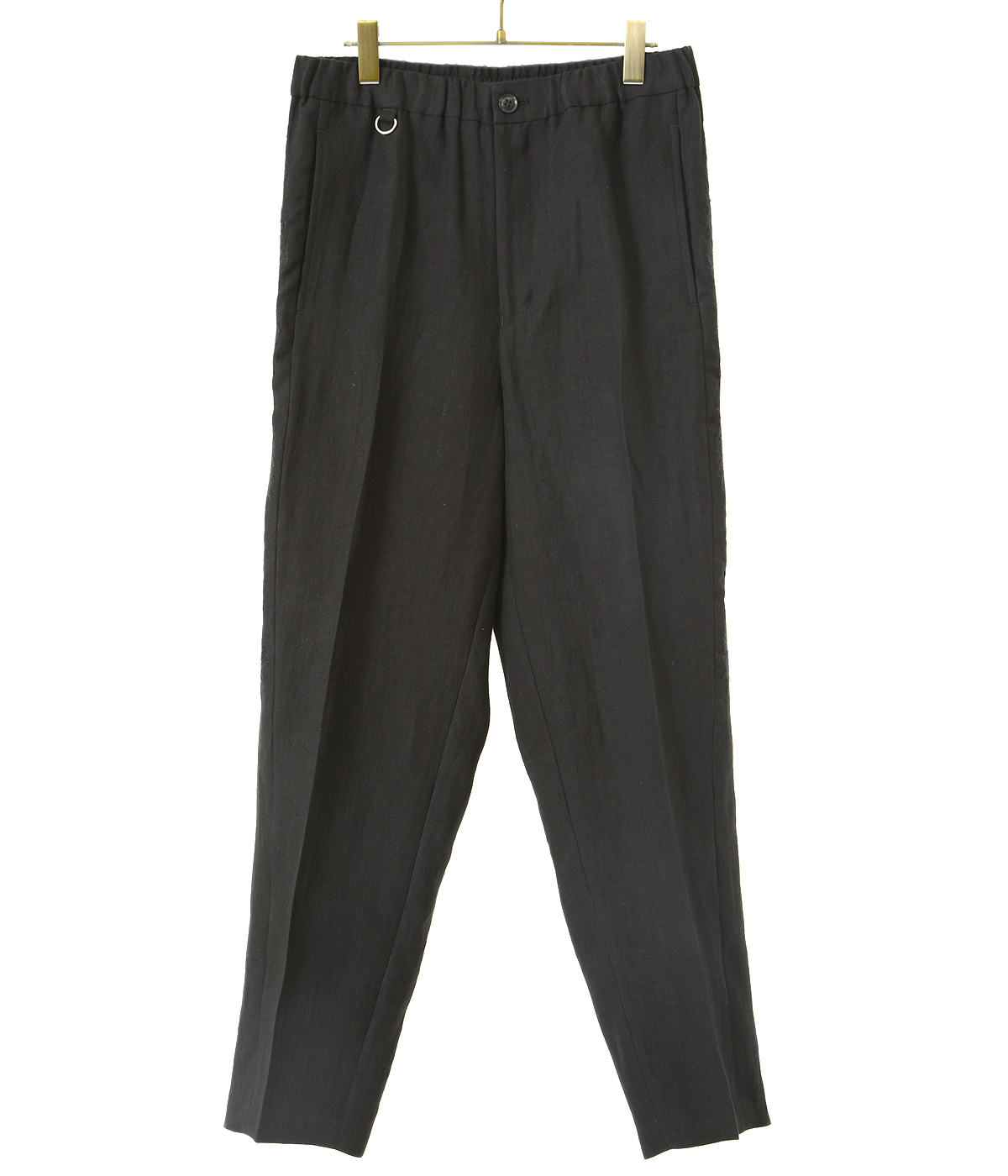 CHAOS EMBROIDERY LINEN TAPERED TROUSERS