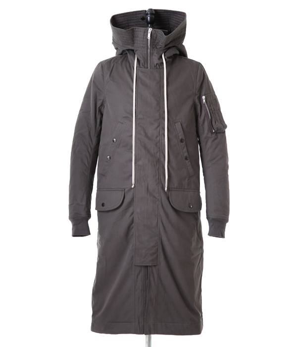 HOODED LONG PARKA (ダークダスト)