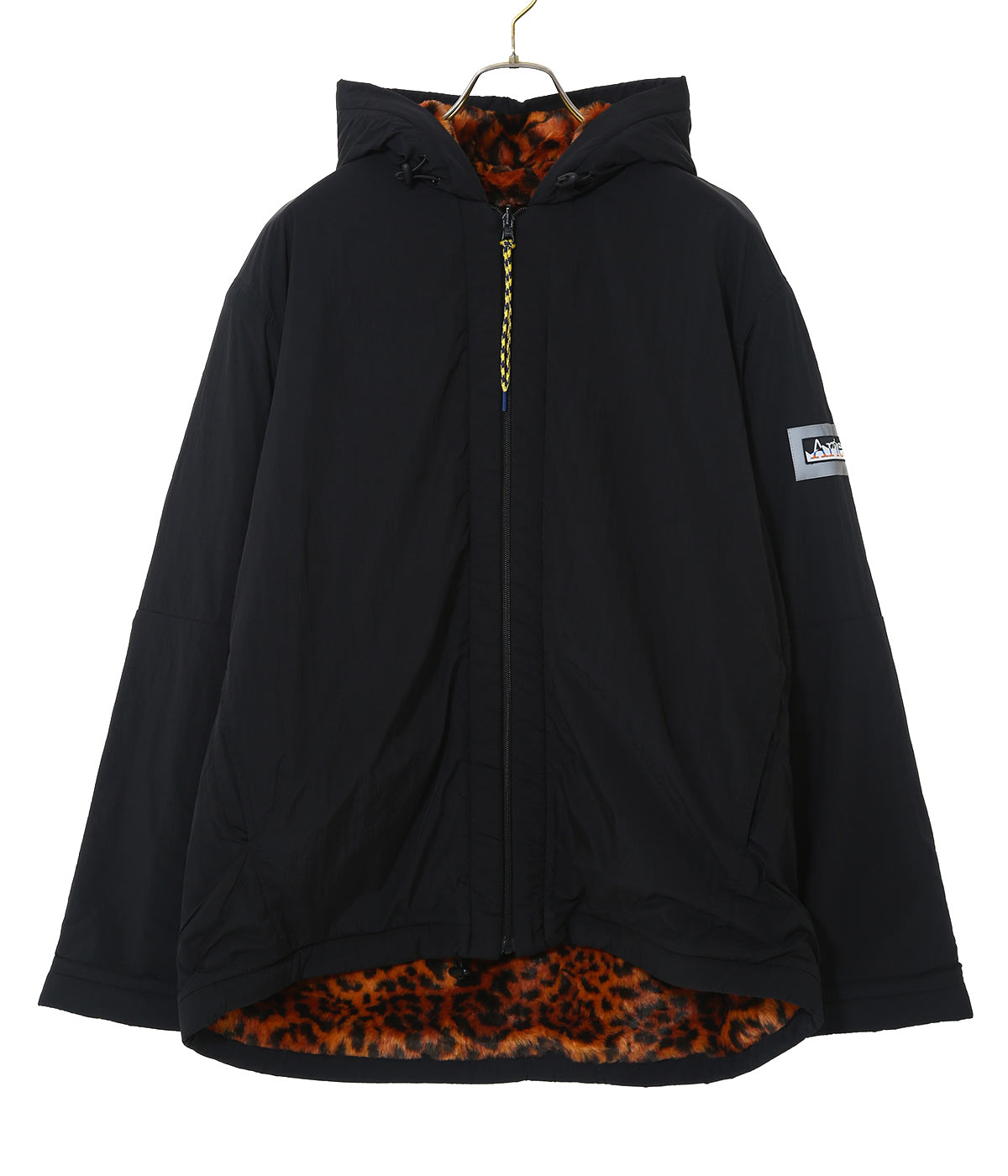 Reversible Furry Leopard Parka