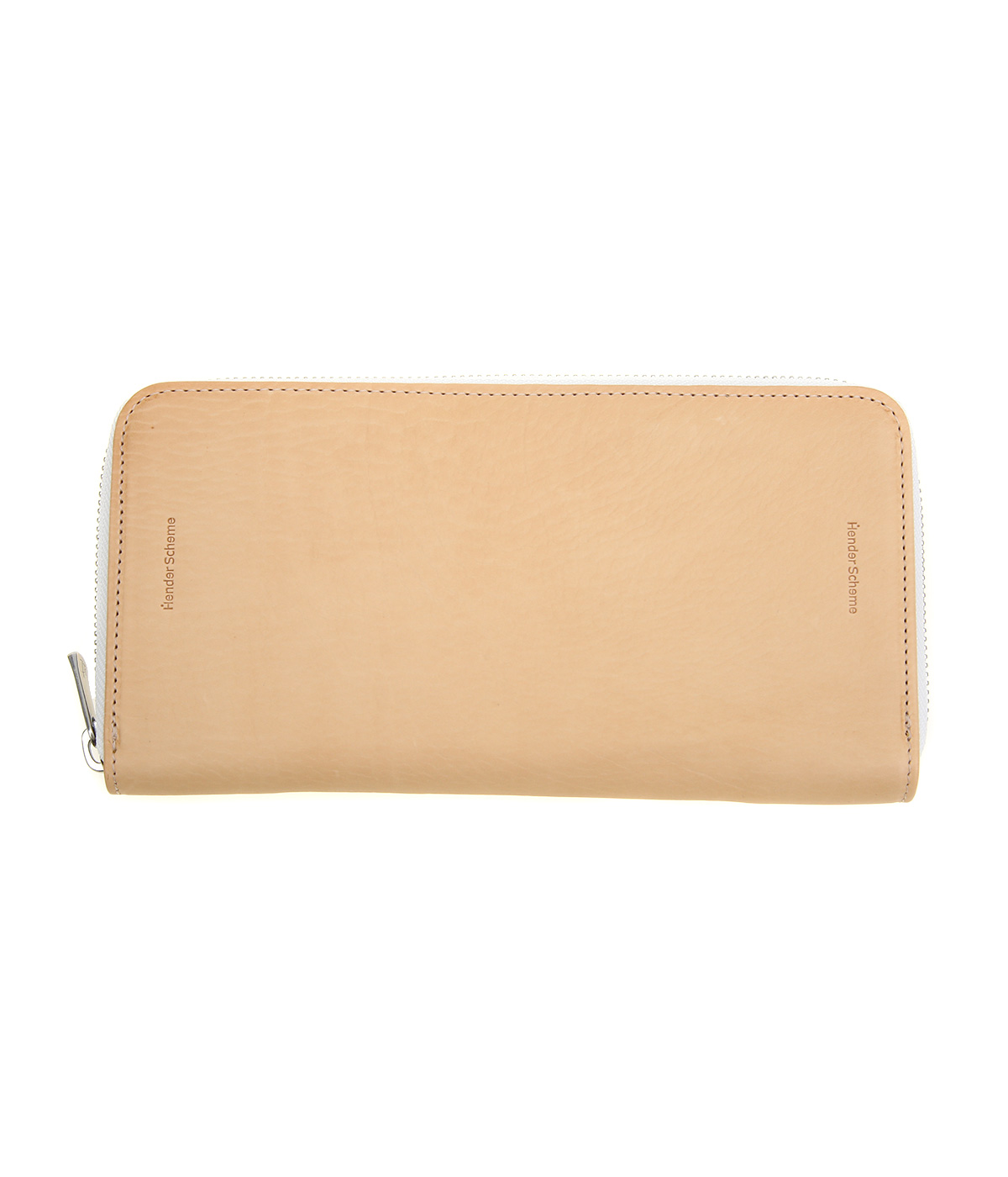long zip purse -natural-