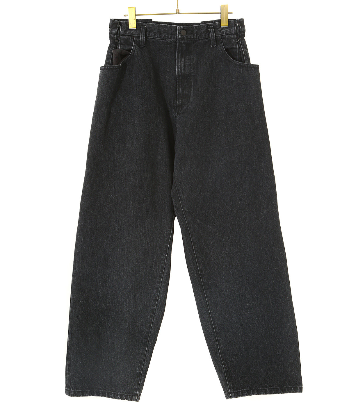 EX WIDE HOOKED DENIM JEANS