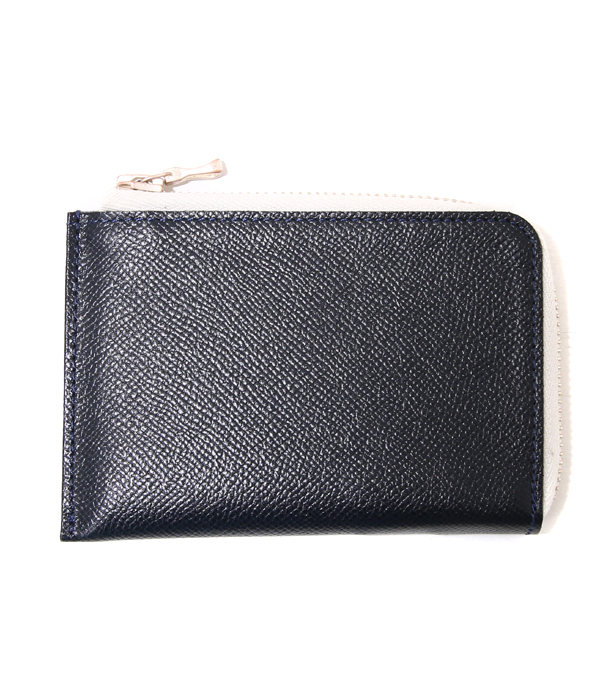 L PURSE (LARGE) Calf leather-ネイビー