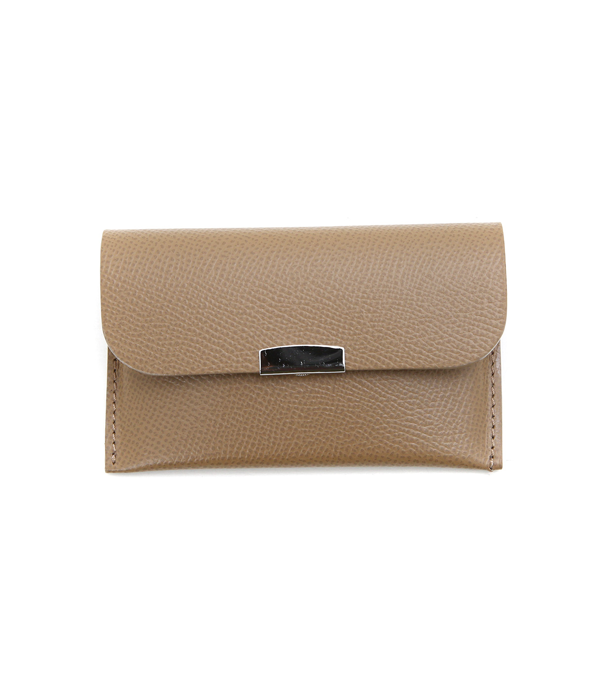 CARD CASE - Calf leather -グレイ-