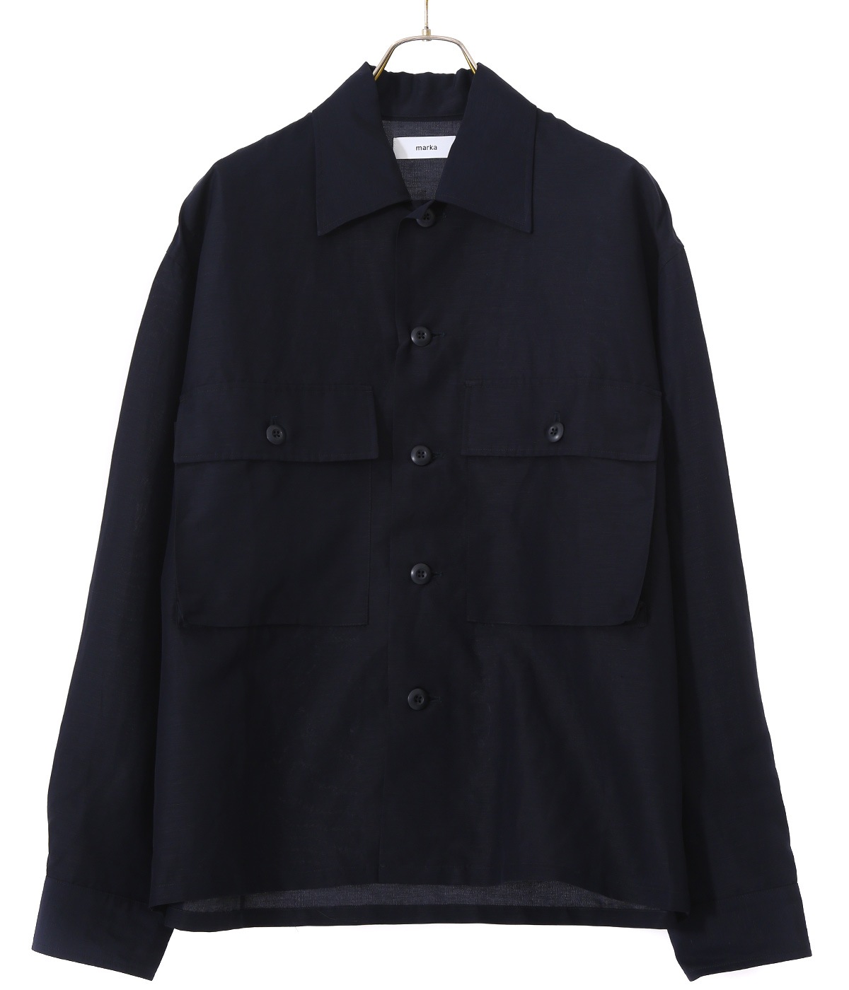 【予約】MILITARY SHIRT - cupro linen cotton cloth -