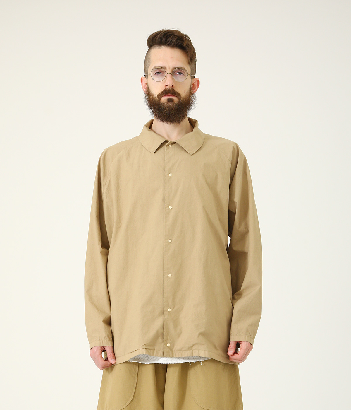 COTTON 80/ SLIK 20 120/2 BROAD SNAP SHIRT