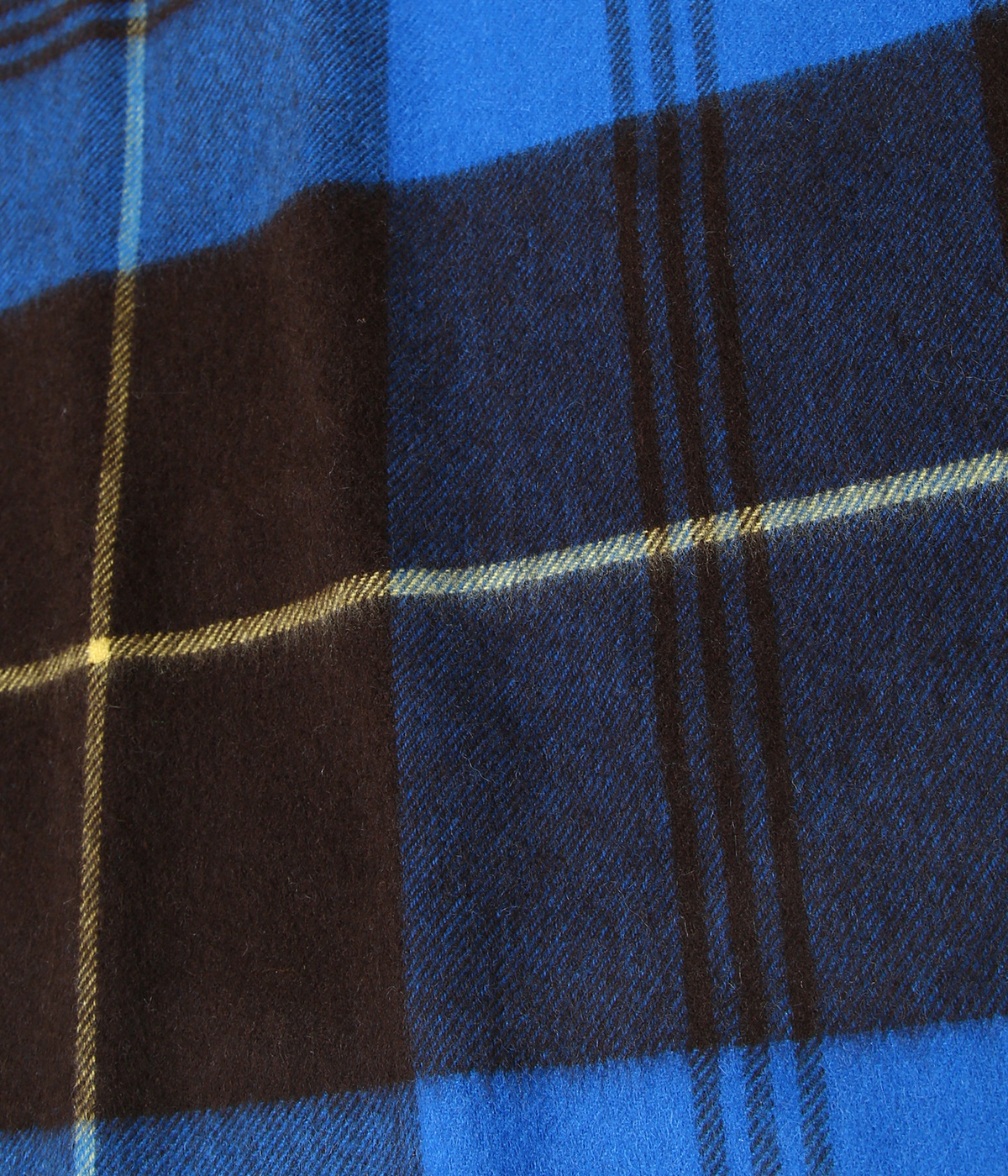 【予約】<CASHMERE STOLES (190cm×70cm)>-BLUE×BROWN-