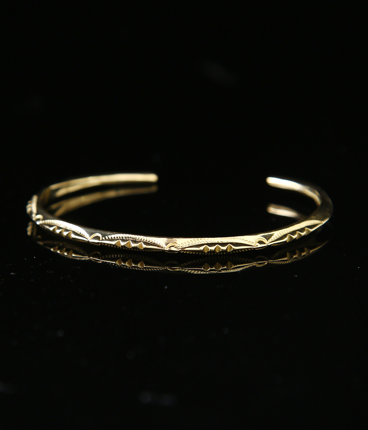 EXTRA THIN TRIANGLE BANGLE -3POINT- 18K