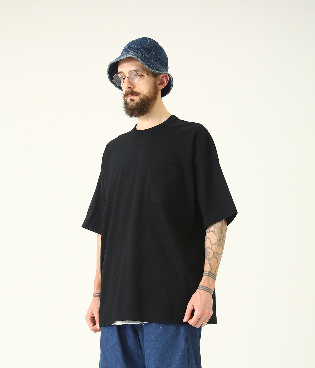 14/- HEAVY COTTON S/S WIDE T-SHIRT