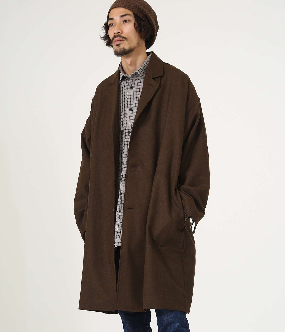 【予約】SHIRT COAT - wool soft serge -
