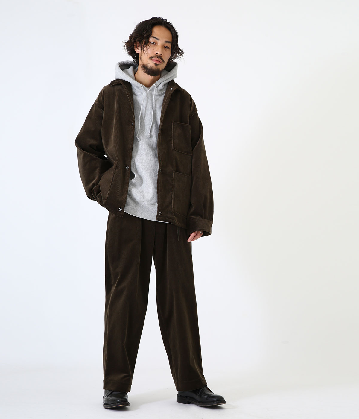 COVERALL -ORGANIC COTTON 9WALE CORDUROY-