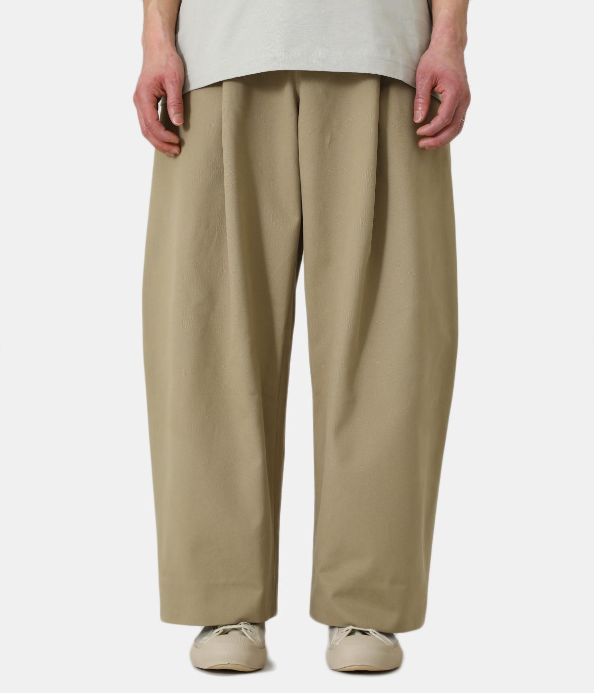 【予約】SORTE PEACHED COTTON TWILL VOLUME PLEAT PANTS