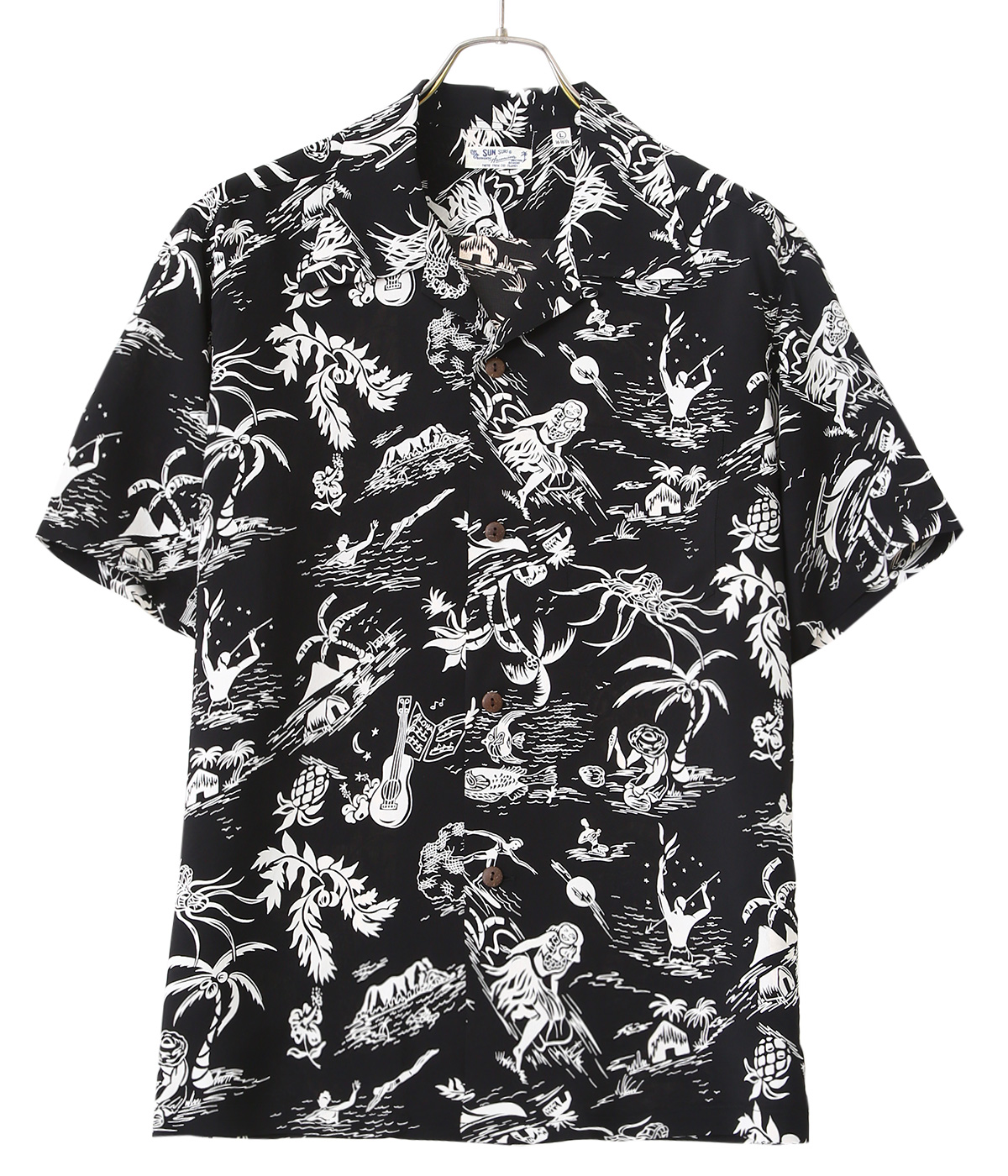"S/S RAYON HAWAIIAN SHIRT ""HISTORY OF PARADISE"""