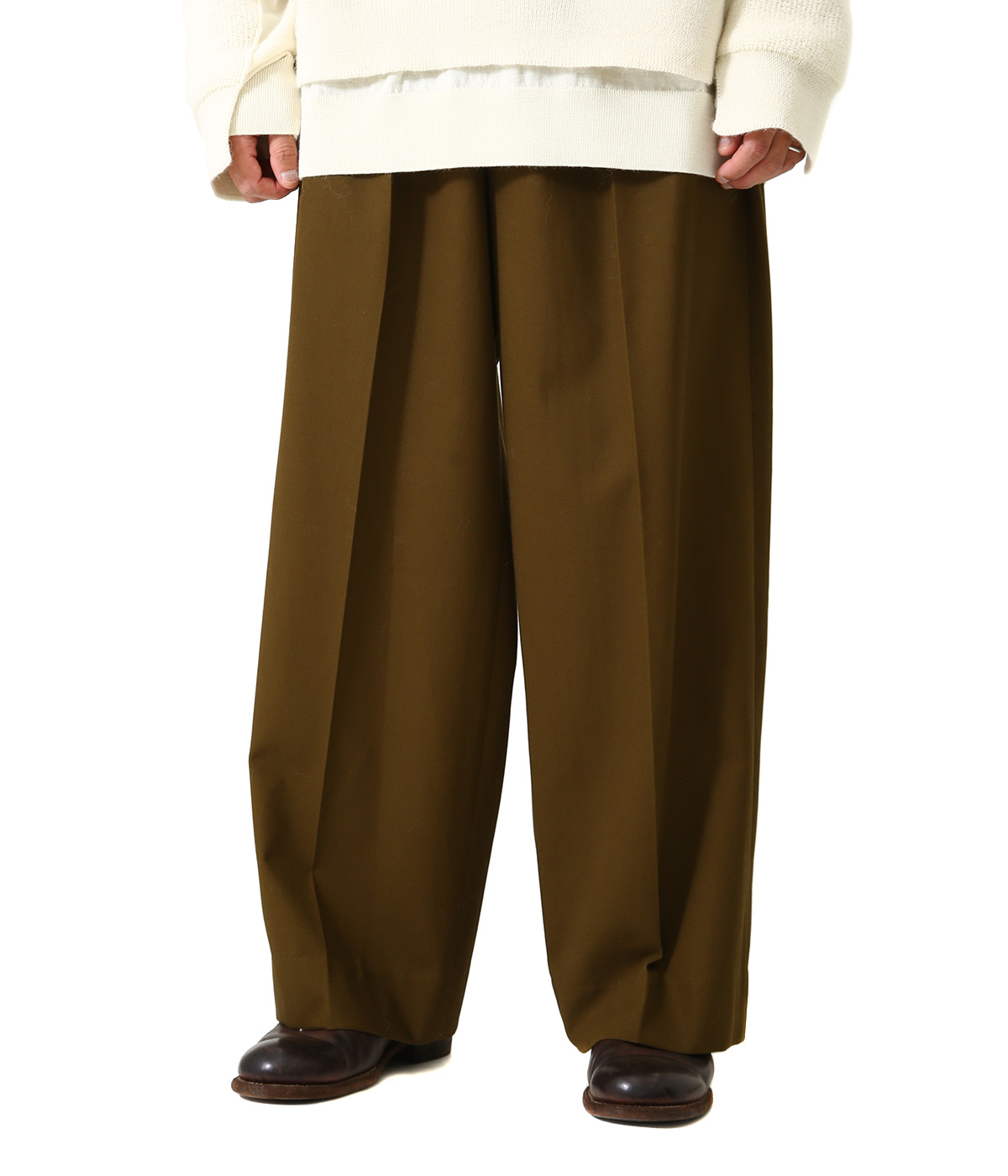 2TUCK WIDE GURKHA TROUSERS