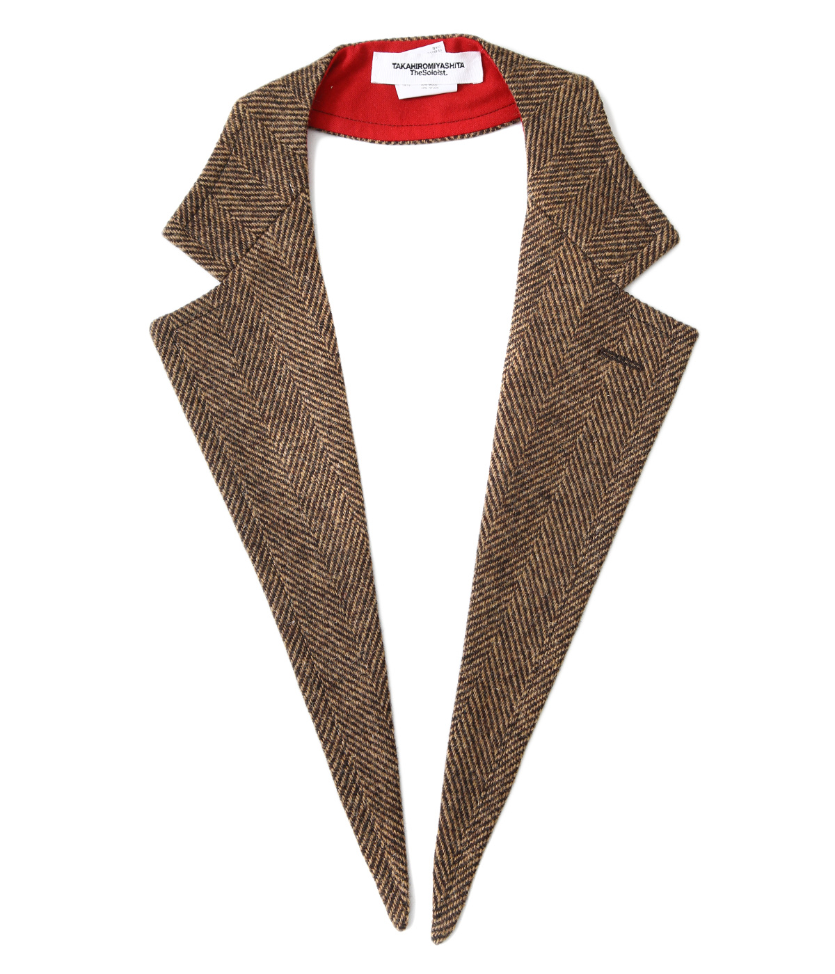 attachment wide notched lapel collar.