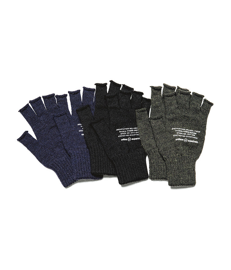 UEN PHYSICAL FITNESS FINGER LESS GLOVE (BLACK SHEEP)