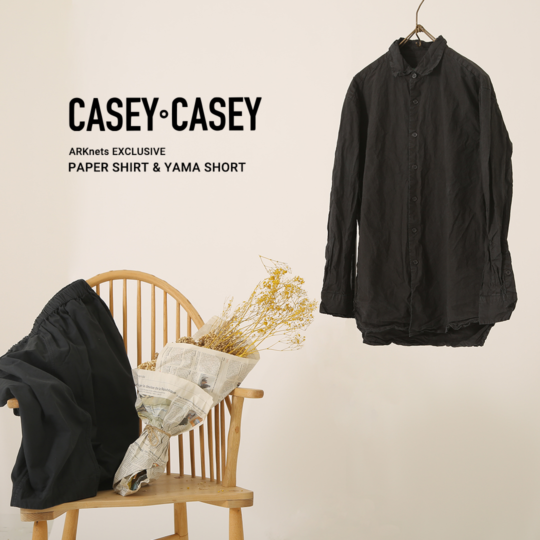 CASEY CASEY ARKnets EXCLUSIVE PAPER SHIRT & YAMA SHORT