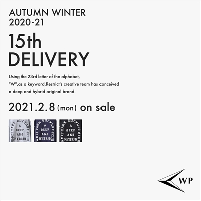WP 20AW 12th DELIVERY